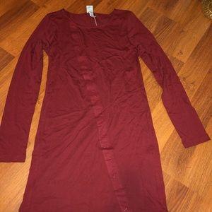 Bench Snap Asymmetrical Long Sleeve Dress